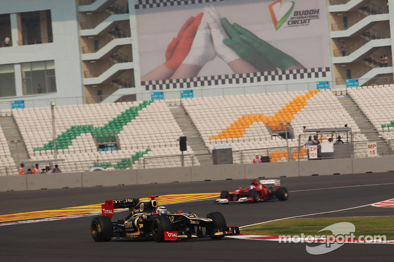 Disappointing qualifiying result for Lotus drivers at Buddh International Circuit