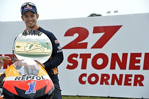 MotoGP Qualifying report Stoner on pole as Pedrosa secures front row for Australian GP