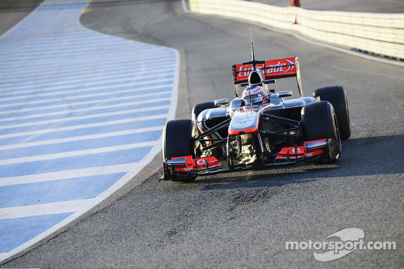 Button sets fastest time on first day of preseason testing in Jerez