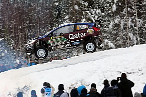 WRC Leg report Qatar M-Sport's Østberg charges to third on leg two of Rally Sweden
