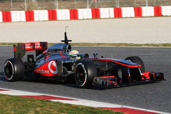 McLaren's Perez sets fastest lap on second test day in Barcelona