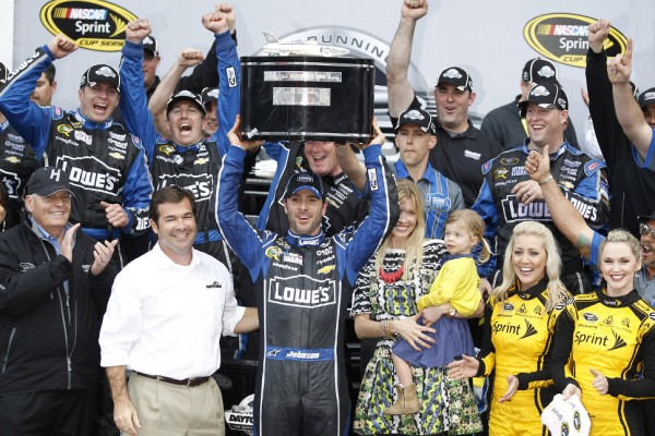 Johnson snakes to victory in 55th Daytona 500