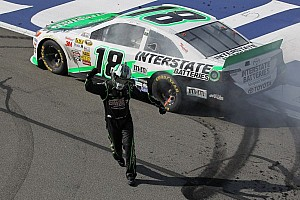 NASCAR Sprint Cup Race report Kyle Busch gets first Fontana NSCS win for Toyota