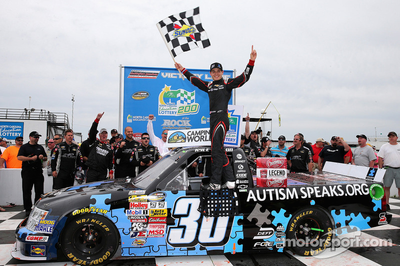 Larson claims his first truck win at Rockingham