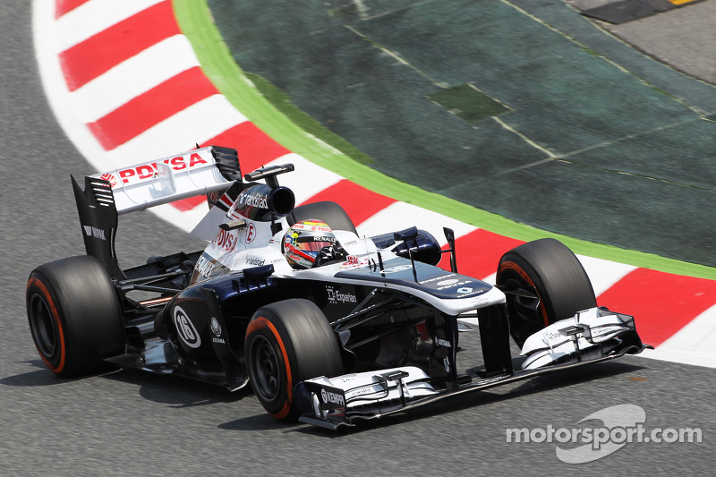 Day of tests for Williams on Friday practice for the Spanish GP