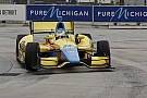 Conway and Coyne win pole for Sunday's Detroit