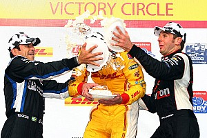 Team Penske on Milwaukee Mile podium