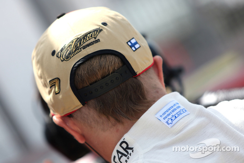 Lotus' Räikkönen: 'The podium will be the only place to see my hair'