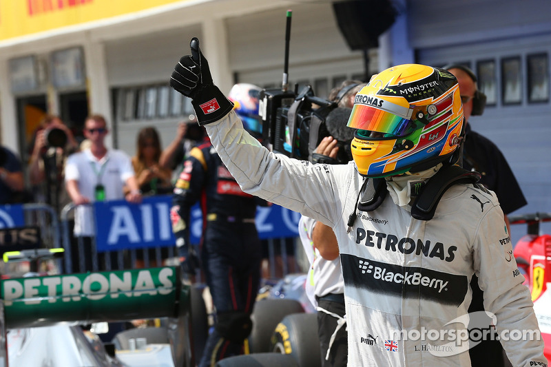 Hamilton qualified on pole position for the Hungarian GP