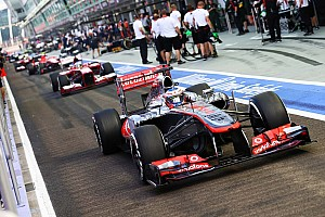 Formula 1 Qualifying report McLaren's Button delivered a strong performance to qualify in 8th for the Singapore GP