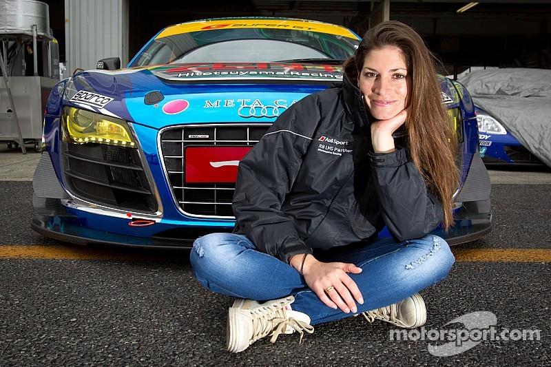 Motorsport.com media partner with Cyndie Allemann in Super GT