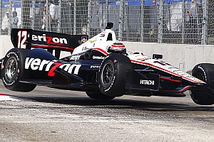 Power posts 2nd fastest lap to lead Team Penske while Castroneves gets to know the Houston circuit
