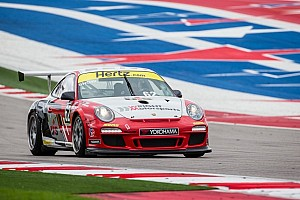 A test of survival at for the Porsche GT3 Cup drivers in race 1 at Road Atlanta