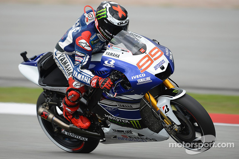 Lorenzo on top down under in the first day at Phillip Island