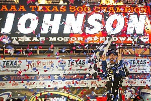 NASCAR Sprint Cup Race report Johnson dominant force in Texas 500 victory