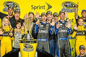 NASCAR Sprint Cup Special feature Jimmie Johnson basks in the championship spotlight