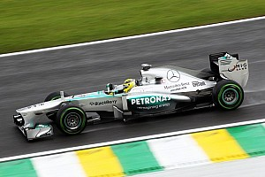 Formula 1 Practice report Rosberg quickest in wet Brazil FP1