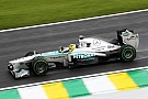 Rosberg quickest in wet Brazil FP1