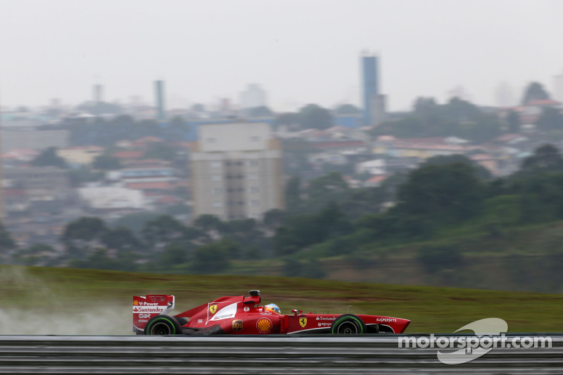 Ferrari: Inevitably wet Friday practice at Interlagos
