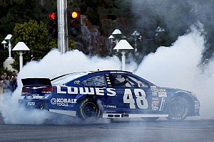 NASCAR Sprint Cup Special feature NASCAR fetes Jimmie Johnson as 6-time champion