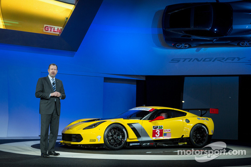 Chevrolet Corvette C7.R race car makes world debut