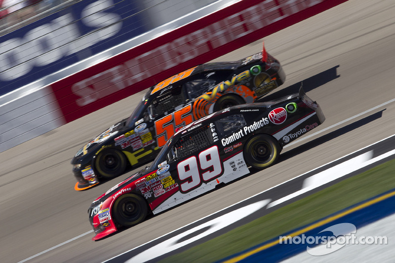 James Buescher gets set for Auto Club Speedway race
