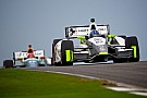 Newgarden battles elements, rivals to finish eighth at Barber