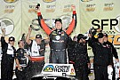 Kyle Busch prevails at Kansas after a wild Truck race