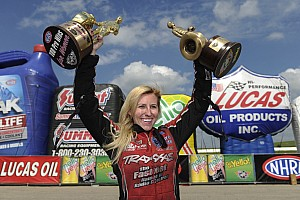 NHRA Interview Courtney Force reflects on her 100th win for a female racer
