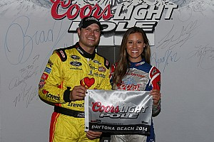 And qualifying first at Daytona for the Coke Zero 400: David Gilliland