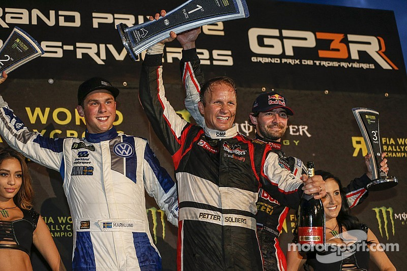 Solberg becomes first double winner in World RX