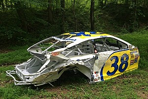 NASCAR Sprint Cup Breaking news Michael McDowell's car is heading to Dale Jr.'s woods