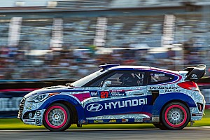 A ride in a Red Bull Global Rallycross Hyundai on the hottest day of the year?