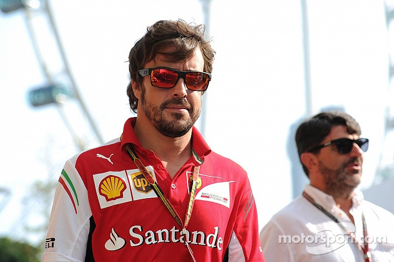 Alonso Ferrari Fire Smoke Becomes Fire as Alonso's