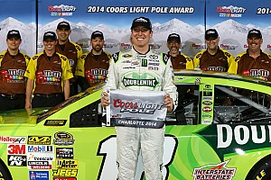 Kyle Busch takes Charlotte pole as brother Kurt sets new track record