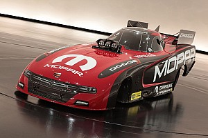 NHRA Breaking news MOPAR shows new Dodge Charger Funny Car at SEMA