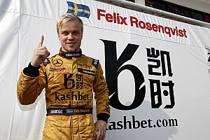 Felix Rosenqvist claims pole position for Macau qualifying race