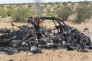 Dakar Breaking news Orlen Team Buggy burnt to a crisp at Dakar