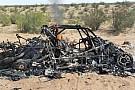 Orlen Team Buggy burnt to a crisp at Dakar