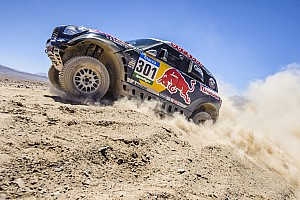 Nasser Al-Attiyah celebrates third stage win at the 2015 Dakar Rally