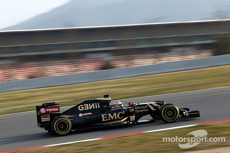 Maldonado topped the times on the first day of testing at Barcelona