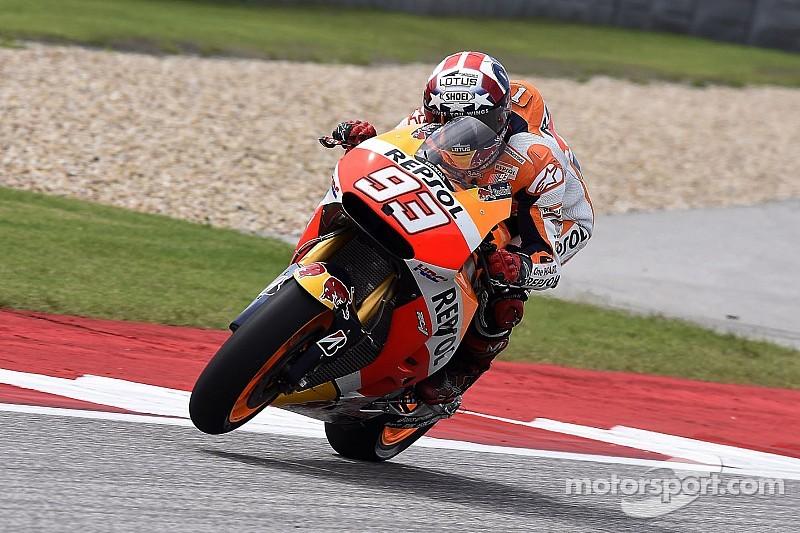Marquez maintains practice advantage over rivals at Austin