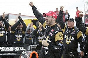 Hinchcliffe wins rain-marred and crash-filled race NOLA