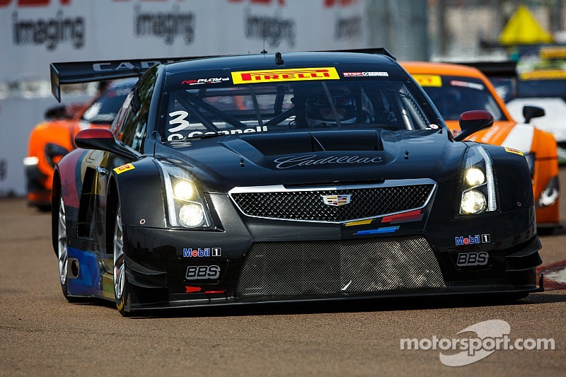 Cadillac ATS-V.R drivers O'Connell and Pilgrim headed to Long Beach