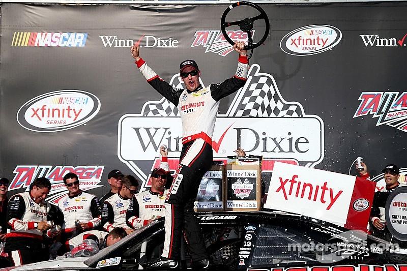 Logano victorious in Xfinity race at Talladega