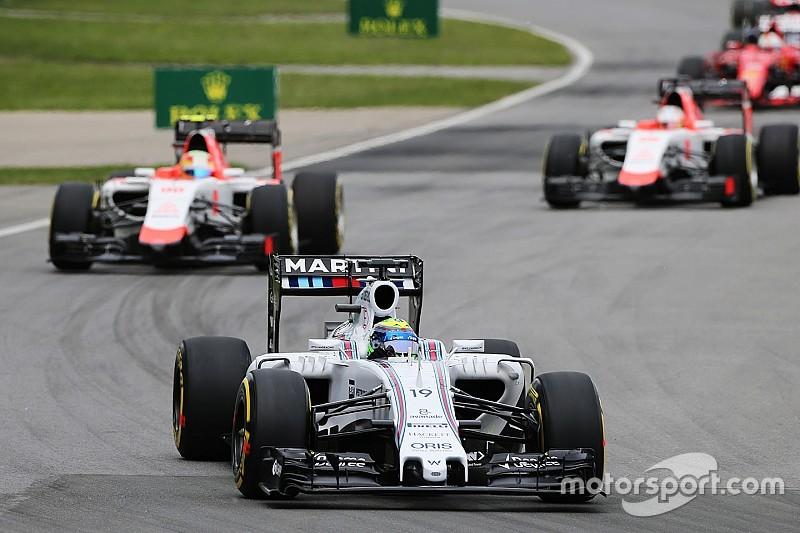 Feliz, Massa comemora bom rendimento com pneus supermacios