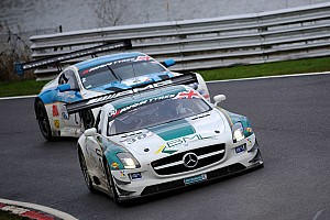 The Ram Racing Mercedes leads the 2015 Hankook 24H Circuit Paul Ricard after three hours