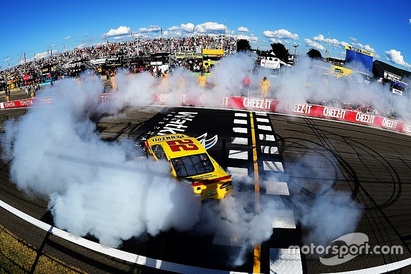 Clean sweep: Joey Logano pulls off the double at The Glen
