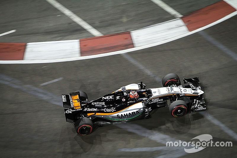 Sergio Pérez, desilusionado con el lugar 13