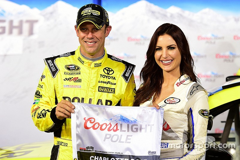 Kenseth earns Charlotte pole in front row lockout for JGR